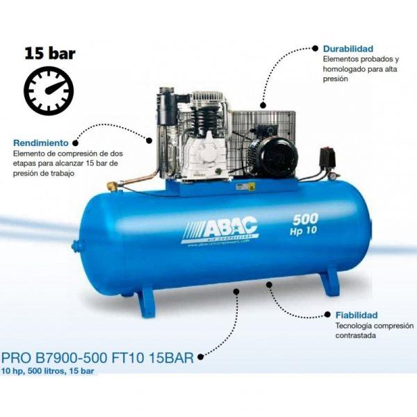 Compresor ABAC PRO B7900-500 FT10 15BAR.